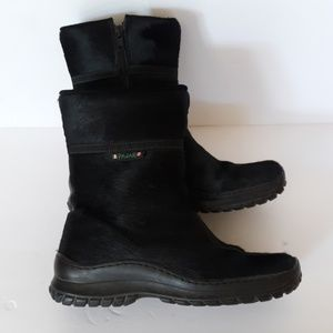 PAJAR MID ANKLE BLACK BOOTS WITH FUR